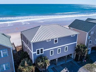 TREASURE: 5 BR / 4.5 BA oceanfront in Surf City, Sleeps 18, Elevator