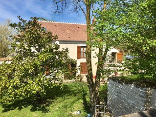 Riverfront French Country Home -for Wine Gourmets, Near Paris