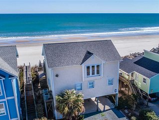 TWIN PALMS: 4 BR / 3 BA oceanfront in Topsail Beach, Sleeps 8