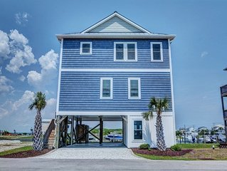 GOING COASTAL: 3BR/3BA, Sleeps 11, Topsail Beach, Elevator Community Pool & Dock