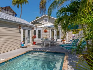 'LADY ADMIRAL' ~ Sweet cottage & guest house with private pool off Duval