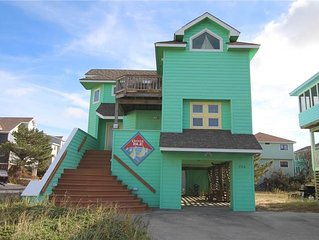 #OS4: Partial OCEANVIEW Home in Corolla w/HotTub & RecRm, Dog Friendly