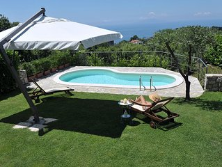 Villa on the Amalfi Coast with sea view and private swimming pool