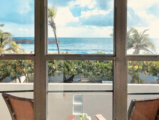 Relaxing Beachfront Condo  WiFi, Private Access to Beach, Pool, Gated complex