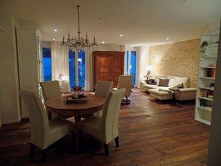 Luxuriös ausgestattete Ferienwohnung mit Sauna für 4-5 Personen