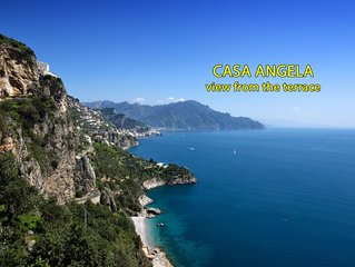Casa con terrazzo vista mozzafiato su Amalfi e sul mare