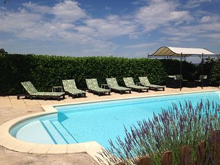 A Beaujolais winemaker's house + vineyard, a/c, exclusive use of heated pool