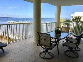 AUGUST DEALS!-BAYSIDE WATERFRONT- Spacious Condo w/Large balcony &  great view