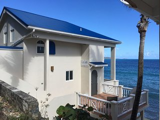 CASA CARIBE SEA LEVEL OCEANFRONT VILLA, Air Conditioning, Beautiful Views!