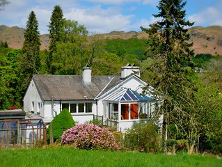 Private house in the Lake District with stunning mountain views;