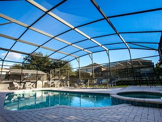 6bdr luxury home with south facing pool EXTENDED pool deck close to clubhouse