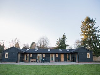 Secluded contemporary stable conversion set in two acres of rural Suffolk