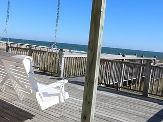 FALL DEALS! 3BR OCEANFRONT KURE BEACH HOME:Private Access,Location,WiFi,Swing