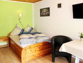 Appartment mit 20 qm, Pantry-Küche, Bad und Balkon, für maximal 2 Personen