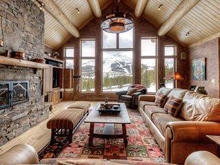 Striking, Ski-Accessible home with Hot Tub and impressive mounain views