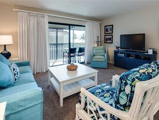 Beach Front 2 bedroom, 2 bath at Sanibel Moorings Resort #122
