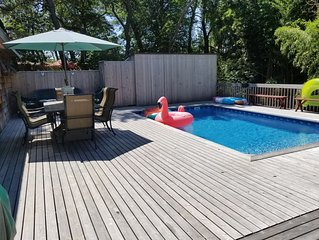 Great house! 2 bdrm,1 bath with pool. Private.Great location to beach & harbor.