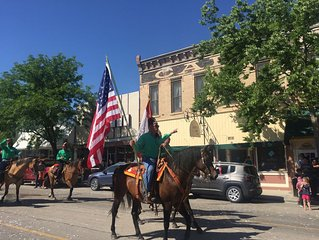 Watch all the Main Street events from your Suite