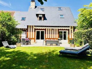 Villa sur Deauville,proche plage,domaine de clairefontaine(piscine et tennis)