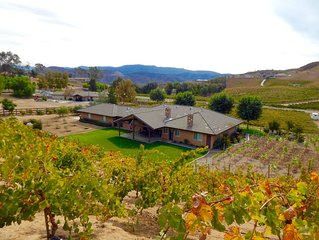 ALL THE COMFORTS AND WALKING DISTANCE TO WINERIES!! SLEEP SURROUNDED BY VINES!