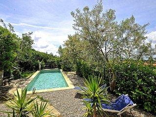 Villa rustica in zona tranquilla, vicino Massalubrense, con piscina e vista mare