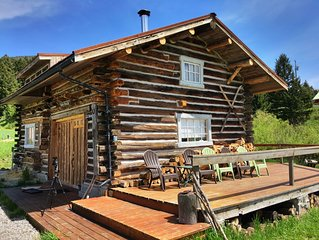 JC Cabin-Remodeled historic cabin w/gorgeous views, privacy, lake access w/canoe