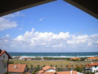 vue ocean beau T2 300 m de la plage