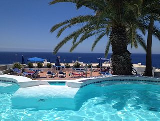 Lovely Studio Apartment,  Sleeps Two Adults, South Facing with Sea Views, Pool.