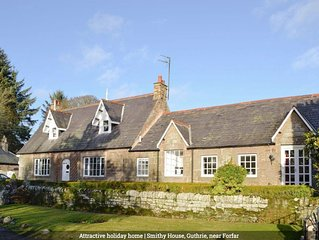 Stunning historic Angus cottage next door to Guthrie castle and ancient  church
