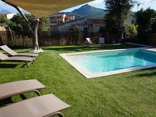 Belle Maison climatisée avec piscine chauffée proche Plage et centre ville