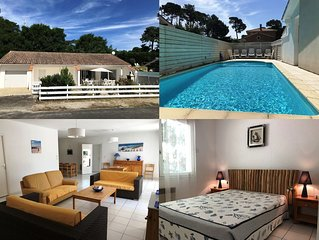 4-bedroom pool villa for 10 in Lacanau-Océan, 400 m from the beach