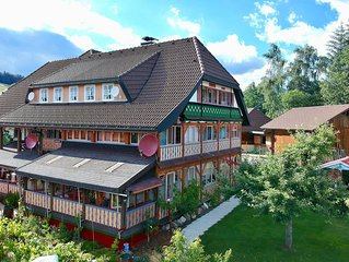 Beautiful apartment in the Black Forest with conservatory and tiled stove