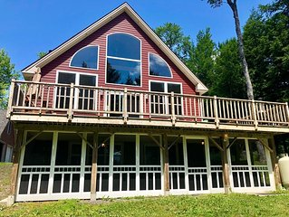 Rustic Luxury Lake Home on Sebec Lake with Private Waterfront and Amazing views!