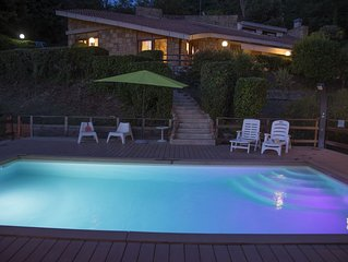 Villa at Lake Nemi just outside Rome, Italy, with brand new pool and ocean view.