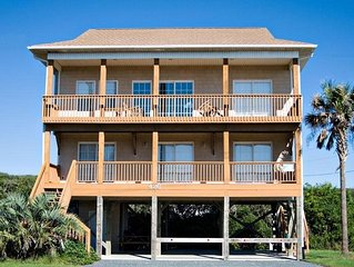 CALLALILY: 4 BR / 3 BA ocean view, private beach access, Topsail Beach, Sleeps
