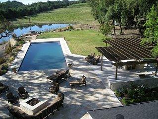 33 Acre Sonoma Estate W/Lake,Beach,Tennis,Pool,100' Water Slide