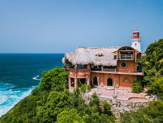 Beautiful Handcrafted 2 (+) Story Cliff-Side Dwelling with Sweeping Ocean Views