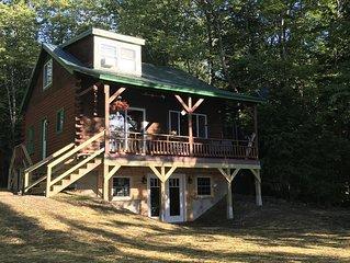 3BR, 2BA Log Cabin On Big Indian Lake