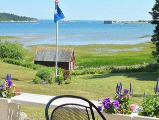 Oceanfront historic home near Popham & Islands at mouth of Kennebec River