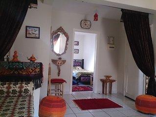 Appartement calme à Ghazoua/ toit-terrasse/ 4-7 couchages/ avec WIFI
