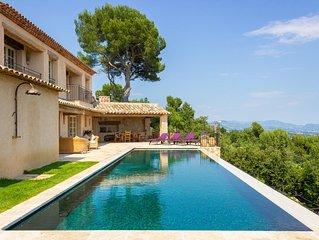 Stunning Sea Views - Luxury architect designed villa, heated pool & tennis court