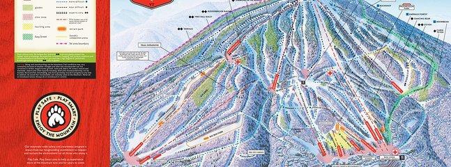 Mapa del sendero de la montaña Stratton.