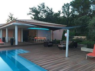 architect villa in a quiet heated pool 10 per