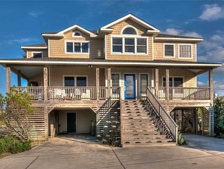 #OH8: OCEANSIDE Home in Corolla w/PrivatePool, HotTub, RecRm & Dog Friendly