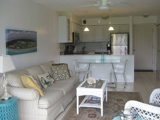 Ground Floor Condo, King-size Bed, Screened Lanai, with 5 Star Reviews.