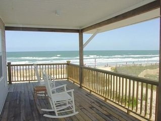 Popular oceanfront duplex offers awesome views and easy beach access