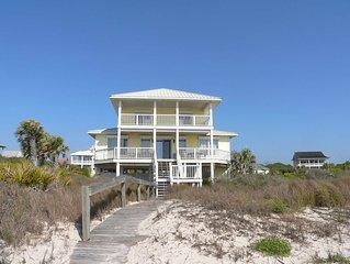 Kick Back at this Upscale Beachfront Plantation Home, Pets too! Hot Tub, Free Be