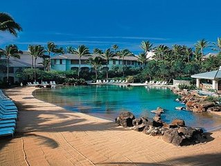 Point at Poipu Two bedroom villa. Luxury, gorgeous grounds and Beach!