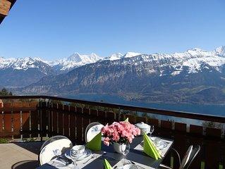 House Alpine Traumli: Wonderful views of the lake and mountains