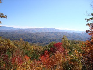 Summer & fall in the Great Smoky Mtns! Enjoy from a peaceful cabin on Bluff Mtn